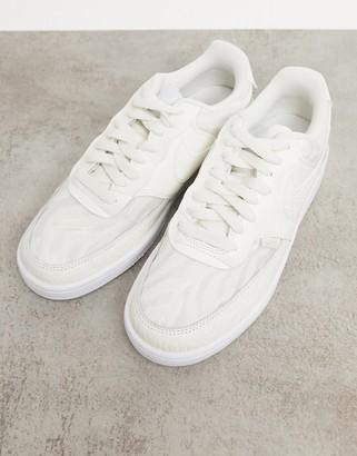 Nike Court Vision Low Premium trainers in sail white & aura