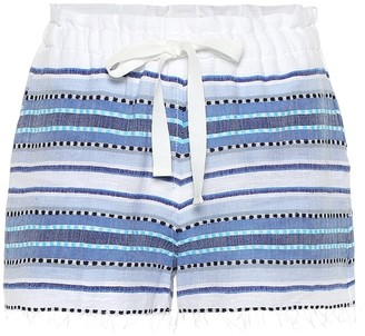 Lemlem Welela striped cotton-blend shorts