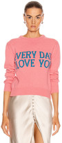Alberta Ferretti Everyday I Love You Sweater in Pink & Blue | FWRD