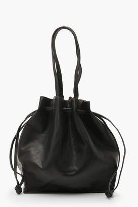 boohoo Textured PU Oversized Tote Bag