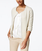Charter Club Petite Textured Metallic Cardigan, Only at Macy's