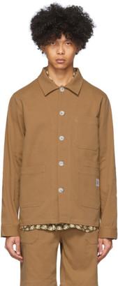 Nanushka Brown Cotton Theo Jacket