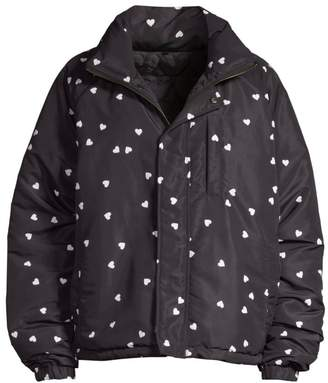 Opening Ceremony Reversible Heart-Print Puffer