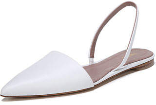 Diane von Furstenberg Koko Slingback Ballerina Flat, White
