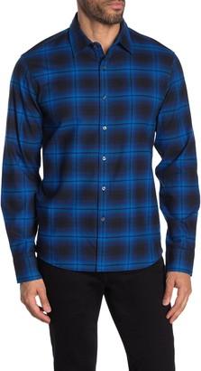Michael Kors Remy Plaid Print Slim Fit Shirt