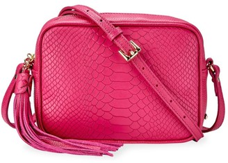 GiGi New York Madison Python-Embossed Leather Camera Bag