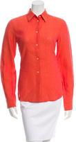 Loro Piana Linen Button-Up Top