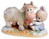 Precious Moments WISHING YOU A MOO-IE CHRISTMAS 455865 Cow Wreath New