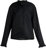 Lemaire Ruffled long-sleeved cotton-blend shirt