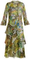 Peter Pilotto Floral-print ruffled silk-georgette midi dress