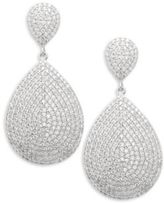 Saks Fifth Avenue Cubic Zirconia Paved Teardrop Earrings