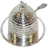 Corbell Silver Company Inc. Silver-Plated Honey Pot with Liner & Ladle