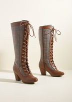 B.A.I.T. Footwear Reign Victorian Boot in Houndstooth in 7.5