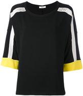 Blugirl striped sleeve top - women - Polyester/Spandex/Elastane - 40