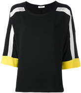Blugirl striped sleeve top