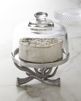Arthur Court Antler Cake Stand with Glass Dome