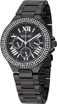 SO & CO New York Women's 5019.5 Madison Crystal-Accented Stainless Steel Watch with Link Bracelet