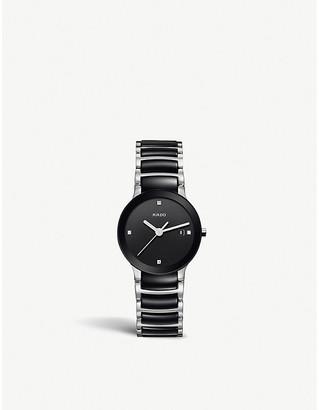 Rado R30935712 Centrix stainless steel and ceramic diamond watch