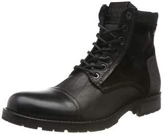 Jack and Jones Men's Jfwmarshall Combo Biker Boots, Black Anthracite