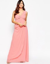 Jarlo Claudia Bandeau Maxi Dress with Draping Detail