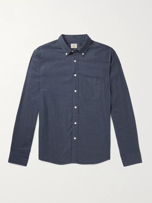 Faherty Slim-Fit Button-Down Collar Stretch Cotton And Lyocell-Blend Shirt