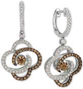 LeVian Le Vian Chocolatier Diamond Clover Drop Earrings (1-1/4 ct. t.w.) in 14k White Gold