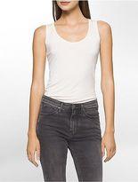 Calvin Klein Womens Liquid Jersey Scoopneck Tank Top