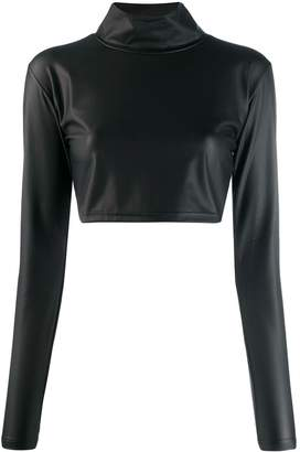 Kappa cropped funnel-neck top