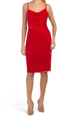 Ruched Velvet Slip Dress