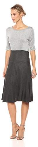 c8d8b3e951a Women's Reversible Colorblock Knit Long Loose Dress