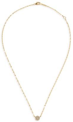 Lana Flawless Pave Diamond & 14K Yellow Gold Circle Charm Necklace