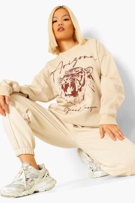 boohoo Petite Oversized Arizona Sweatshirt
