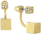 Vince Camuto Pavé Cube Front and Back Earrings