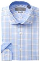 Perry Ellis Plaid Slim Fit Dress Shirt