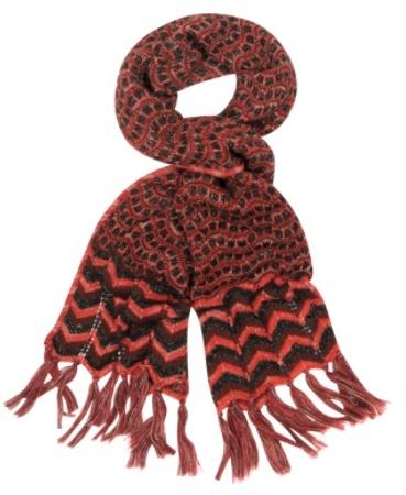 Thumbnail for your product : Missoni Écharpe en tricot de laine rouge et noire