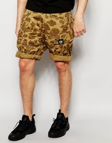 G Star G-Star Cargo Shorts Rovic Loose Fit Beige All Over Camo Print