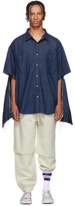 Vetements Navy Levis Edition Oversized Denim Shirt