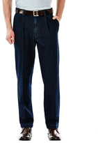 Haggar Work to Weekend Denim - Classic Fit, Pleated Front, Hidden Expandable Waistband