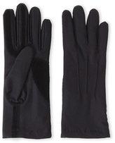Isotoner Black Stretch Classics Fleece-Lined Gloves