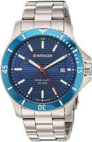 Wenger Men's 'Seaforce' Swiss Quartz Stainless Steel Casual Watch, Color:Silver-Toned (Model: 01.0641.120)