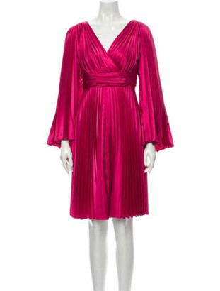 Elie Saab V-Neck Mini Dress Pink