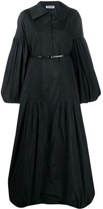 Jil Sander Puff-Design Long Dress
