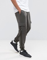 Asos Tapered Joggers With Cargo Pockets And Taping