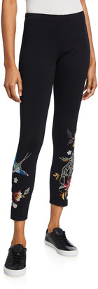 Johnny Was Anzia Embroidered Crop Leggings