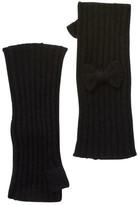 Portolano Black Cashmere Fingerless Gloves