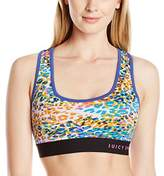 Juicy Couture Women's Spt Calypso Che Compression Racerbck Bra Sports Top,(Manufacturer Size:X-Small)