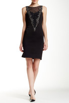 Sue Wong Sleeveless Embellished Dress
