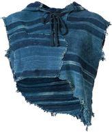 Greg Lauren 'Cut off Parka' blouse