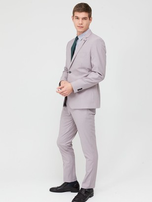 Very Man Stretch Slim Suit Trousers - Stone