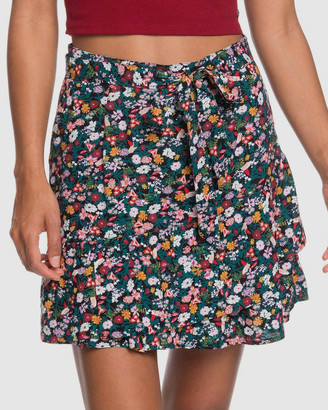 Roxy Womens Mi Mascota Printed Skater Skirt
